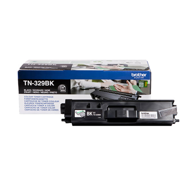 Brother Laser Toner Cartridge Super High Yield Page Life 6000pp Black Ref TN329BK