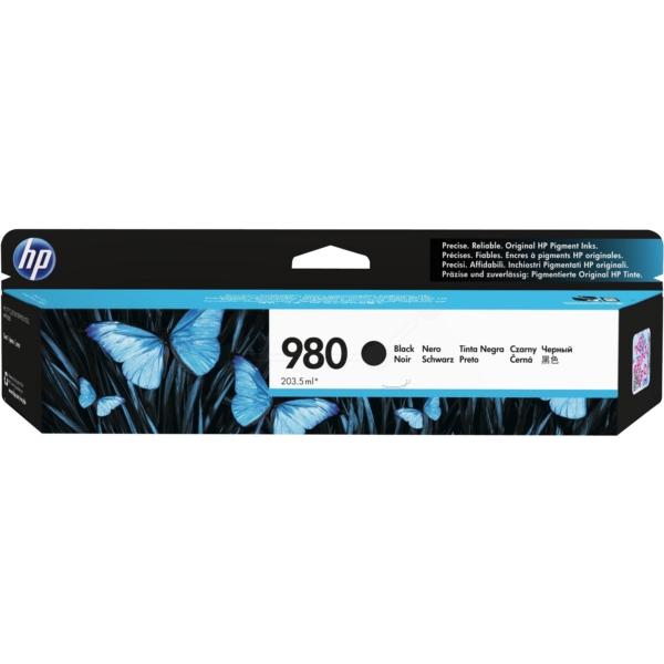 Inkjet Cartridges HP 980 Black Standard Capacity Ink Cartridge 204ml for HP OfficeJet Enterprise Color X555/X585 - D8J10A