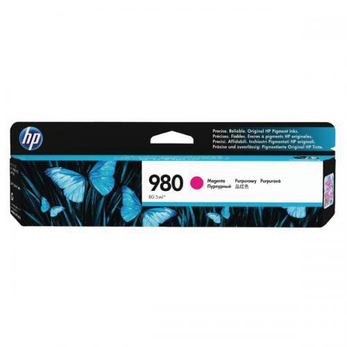 Inkjet Cartridges HP 980 Magenta Standard Capacity Ink Cartridge 87ml for HP OfficeJet Enterprise Color X555/X585 - D8J08A