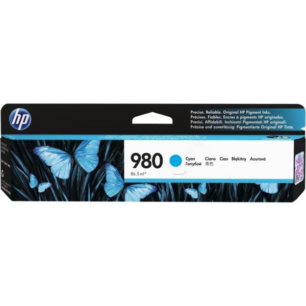 Inkjet Cartridges HP 980 Cyan Standard Capacity Ink Cartridge 87ml for HP OfficeJet Enterprise Color X555/X585 - D8J07A