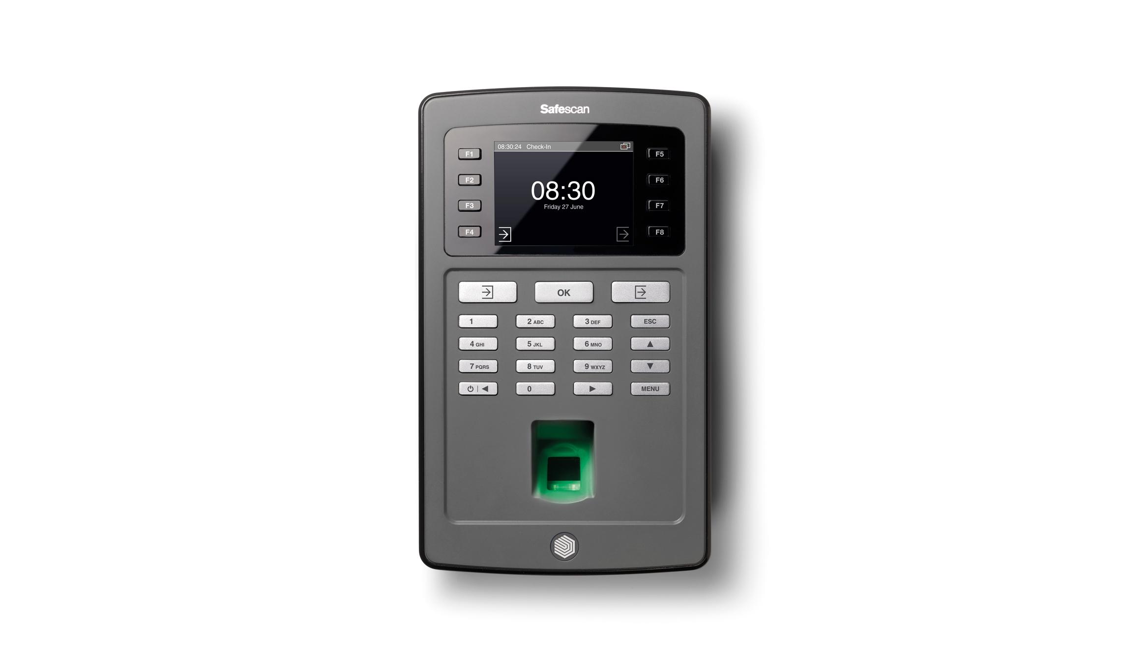 Image for Safescan TA-8030 Clocking in System Fingerprint Recognition Ref 125-0486