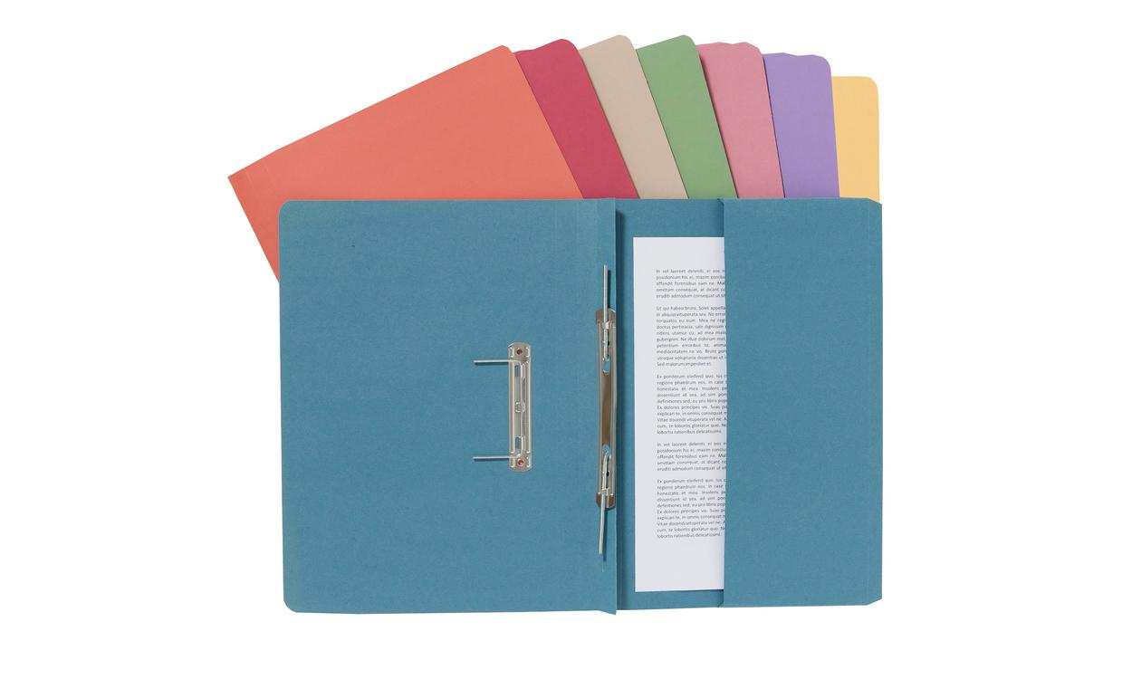 Guildhall Transfer Spring File 315gsm Back Pocket Foolscap Orange 211/9063Z [Pack 25]