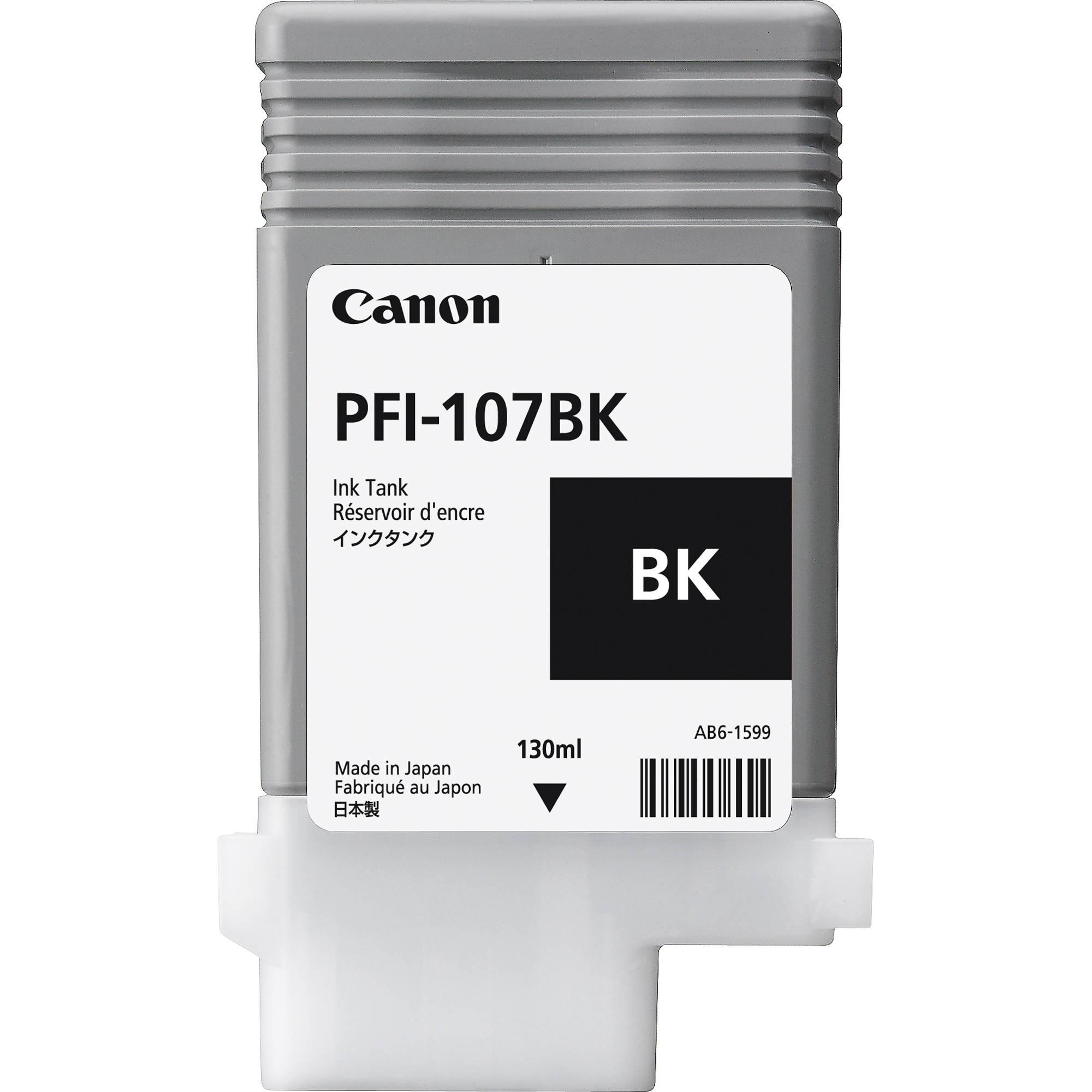 Canon PFI-107BK Black Ink 130ml 6705B001AA