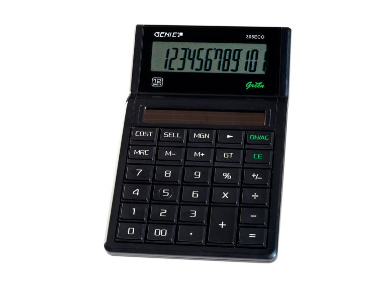 Value Genie 305 ECO Business calculator 100% solar 11763