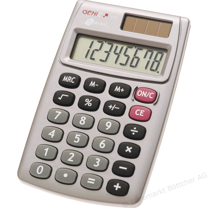 Handheld Calculator ValueX 510 8-Digit Pocket Calculator