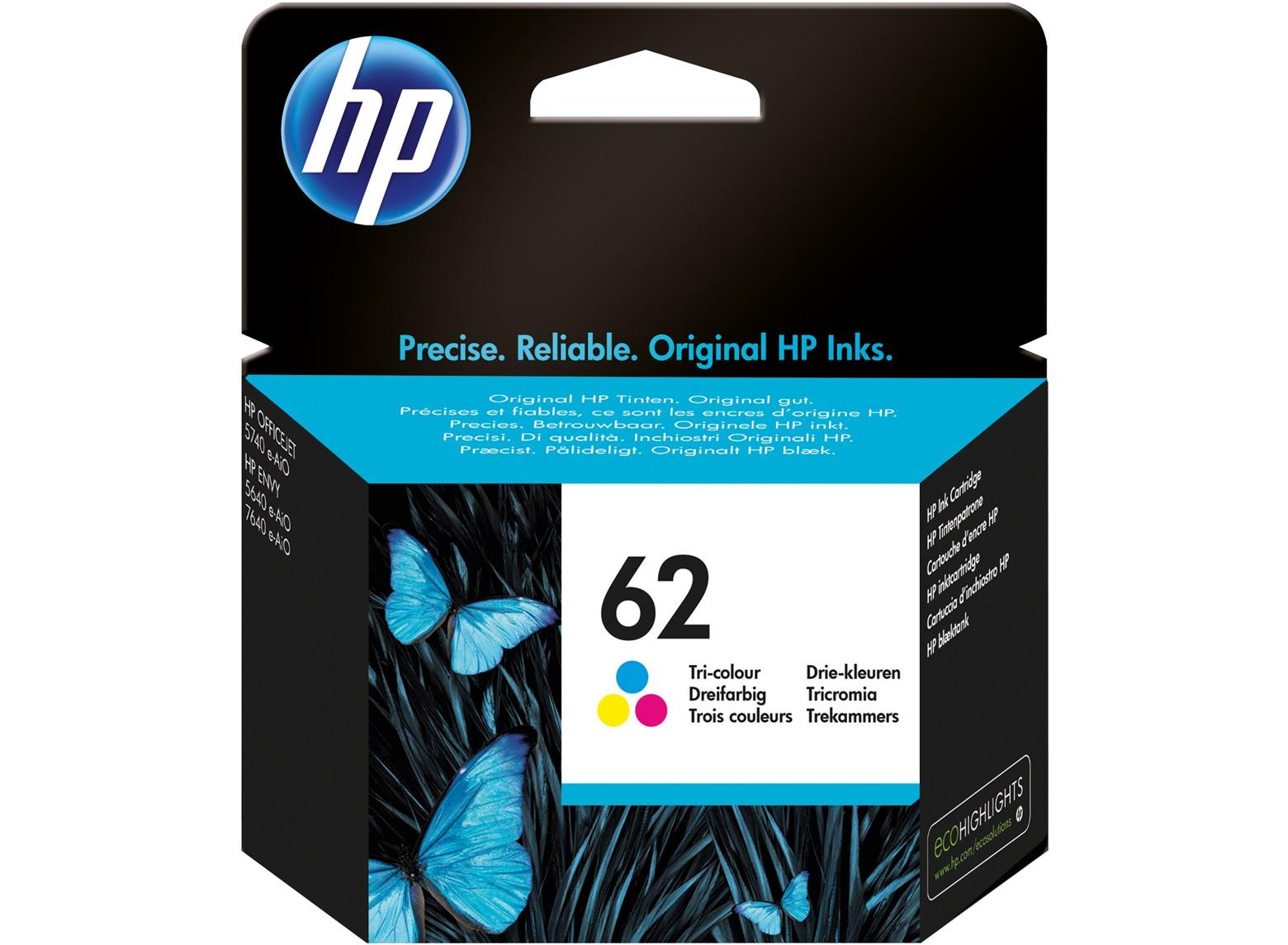 HP No. 62 Ink Cart Tri Colour C2P06AE