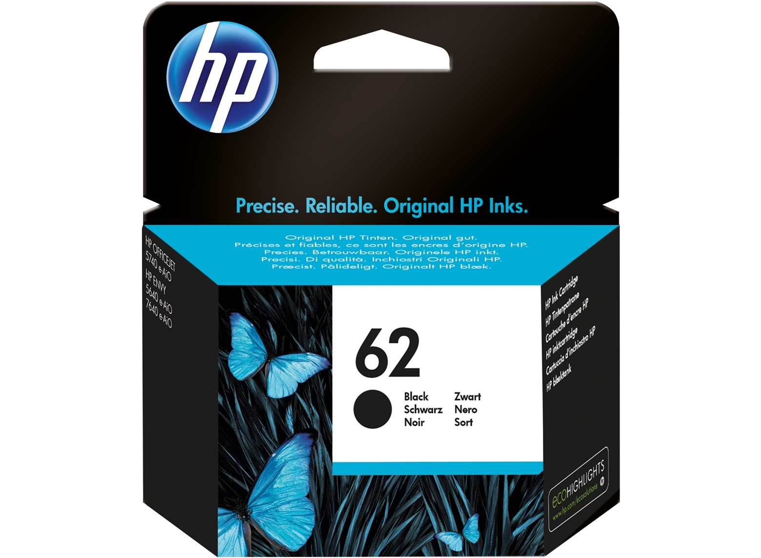 HP No. 62 Ink Cart Black C2P04AE