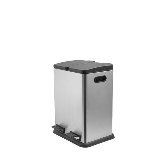 Addis 40L Stainless Steel Recycling Twin Bin