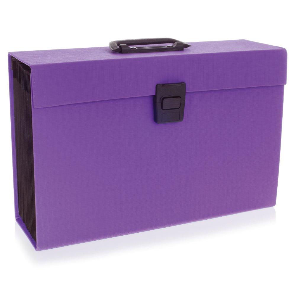 Rexel JOY Expanding Organiser File 19 Part Perfect Purple Ref 2104020