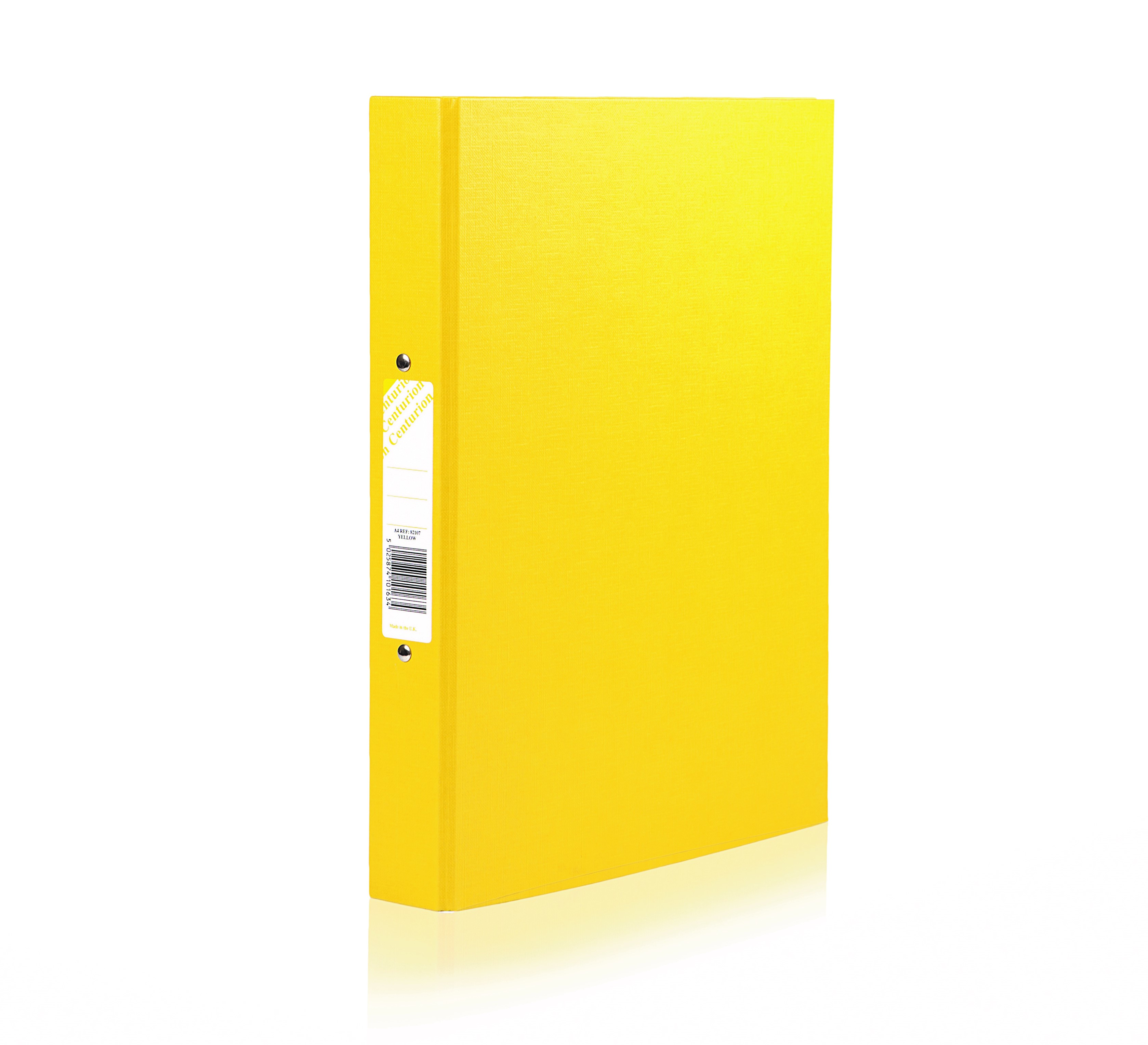 Centurion Classic Ring Binder 2-OR 25mm A4 Yellow PK10
