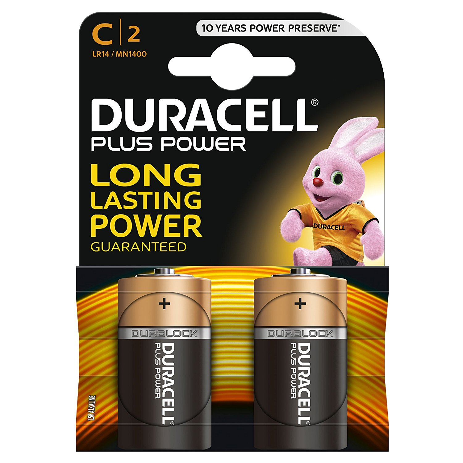 C Duracell Batteries PK2