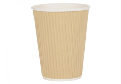 Ripple Cup 12oz 350ml Brown [Pack 500] Ref 4028236