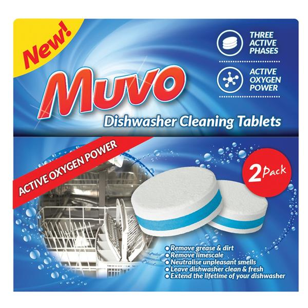 Muvo Dishwasher Cleaning Tablets Ref MDWCT2PK [Pack 2]
