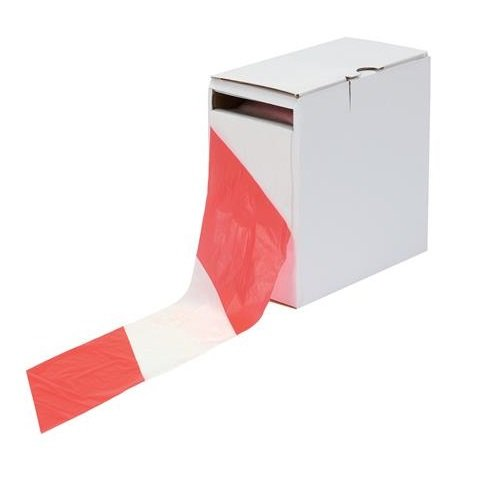 Business Barrier Tape in Dispenser Box 72mmx500m Red and White