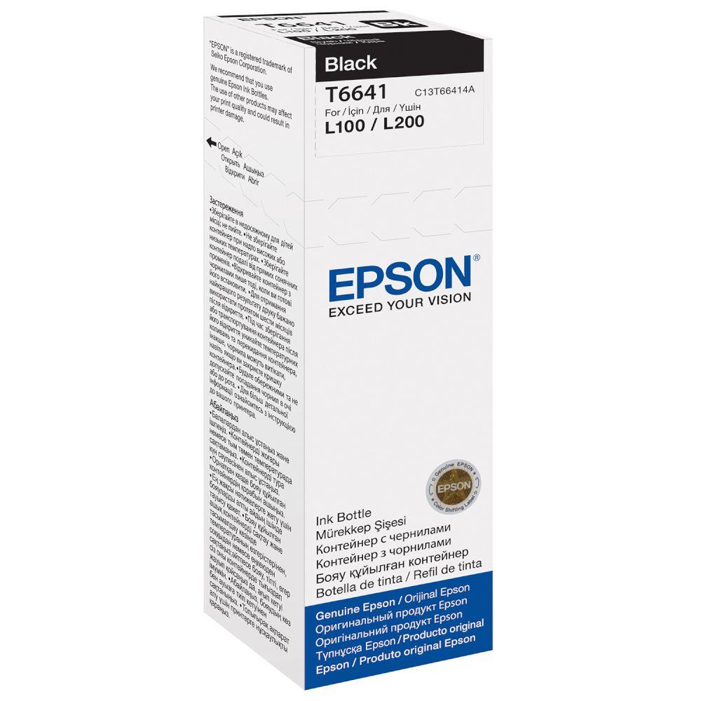 Epson T6641 Ink Refill Kit Black Inkjet Office Essentials Tinta Sun Hp And Colour
