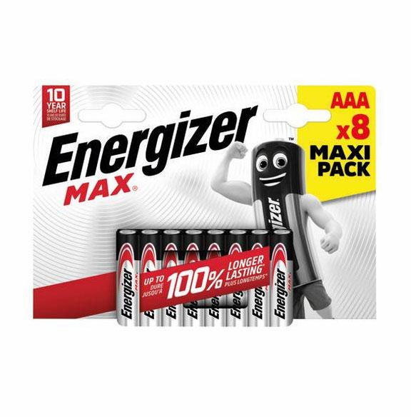 AAA Energizer MAX E92/AAA PK8