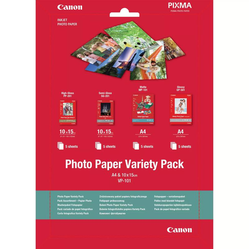 Photo Paper Canon 0775B079 Photo Papaer Variety Pack
