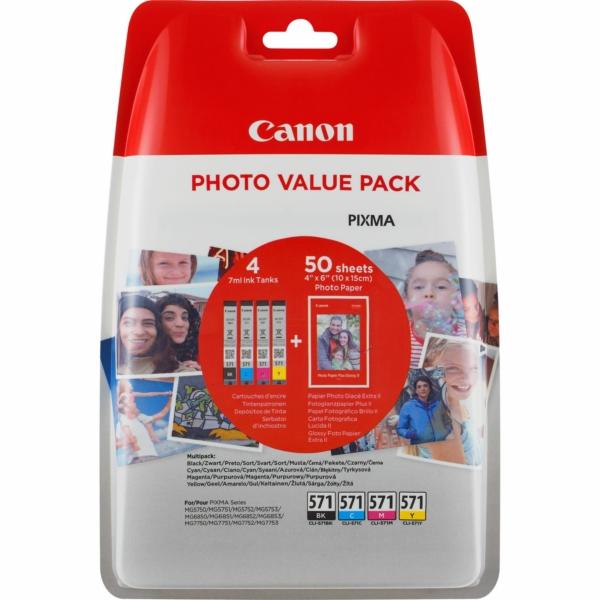 CANON 0386C006 CLI571CMYK PAPE PP501 4X6