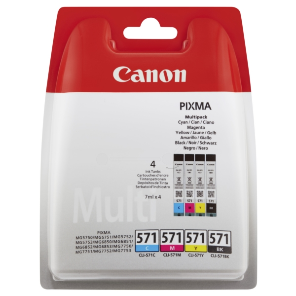 CANON 0386C005 CLI571MULTI PACK CMYK INK