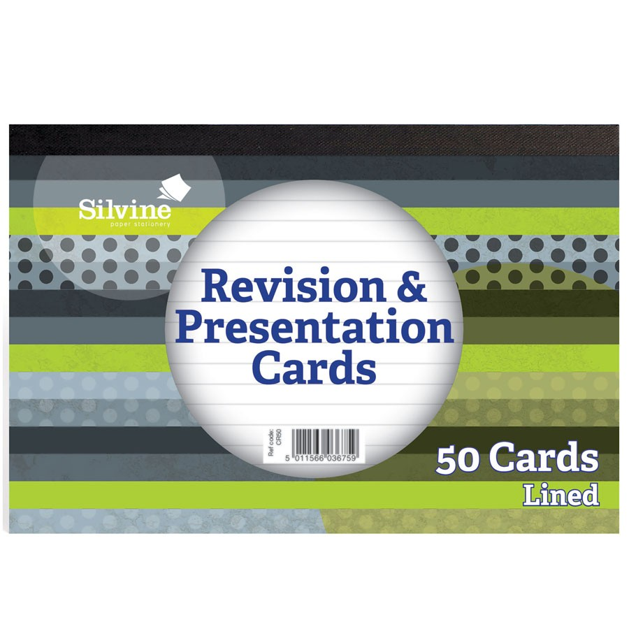 Silvine Revision Cards WH 152x102mm PD50