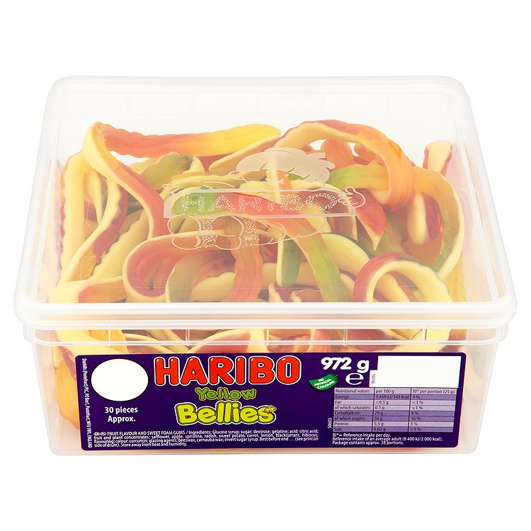 Haribo Yellow Bellies Tub 24 768g