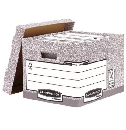 Storage Boxes Fellowes Bankers Box System Heavy Duty Storage Box Grey PK10