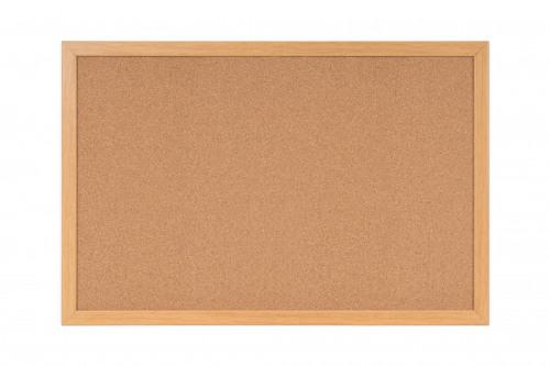 Cork Bi-Office Earth-It Cork Notice Board 90x60cm Frame