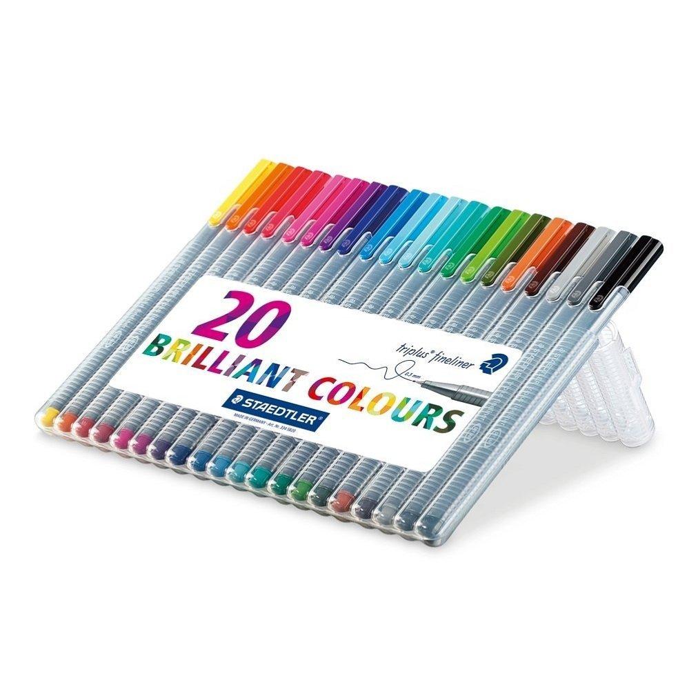 Colouring Pens Staedtler Triplus Fineliner Assorted PK20