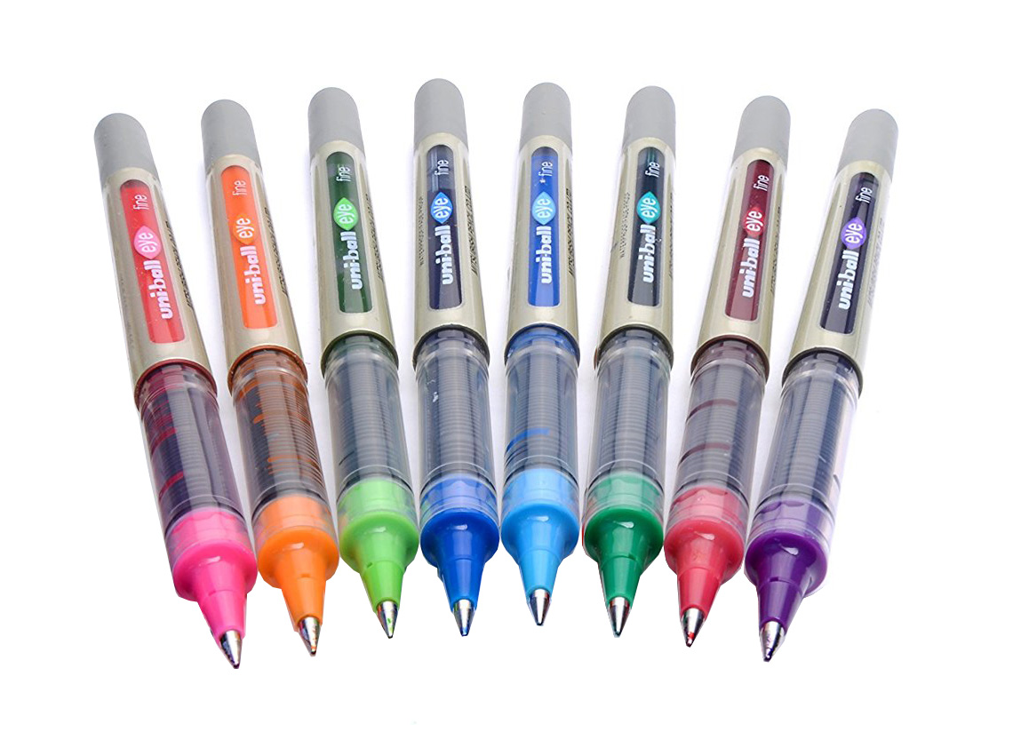 Uni-Ball Eye UB 157 Fine Rollerball Pen Assorted PK8