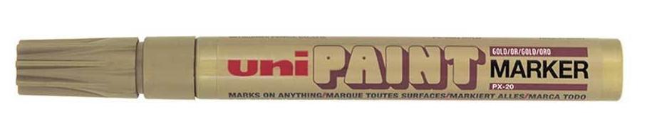 Uni Paint PX 20 Paint Marker Bullet Tip Gold/Silver PK2