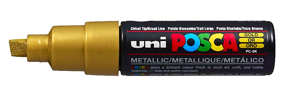 Posca PC-8K Marker Broad Gold PK1