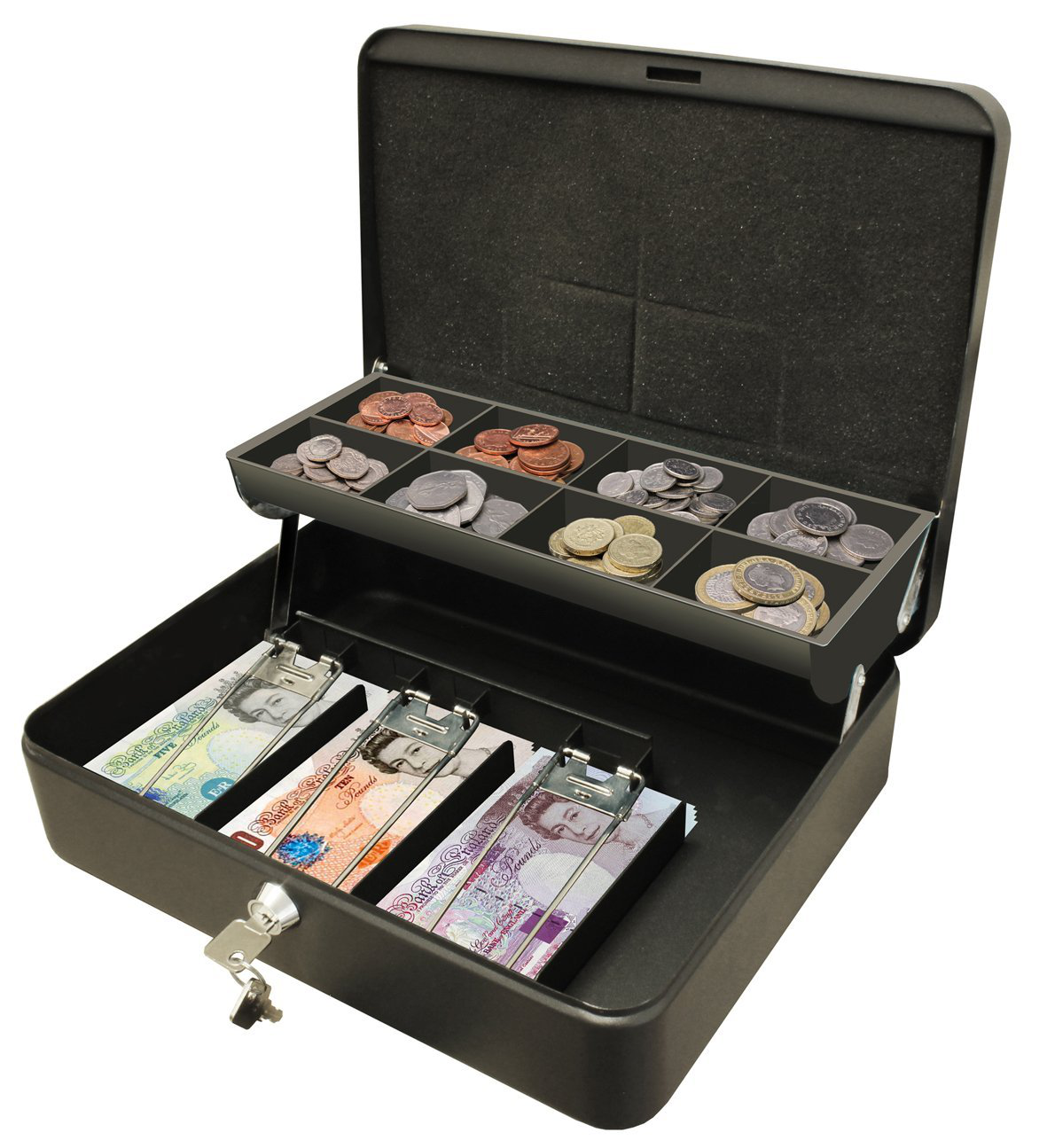 Ash Bins Cathedral Cash Box Black Ultimate 12in