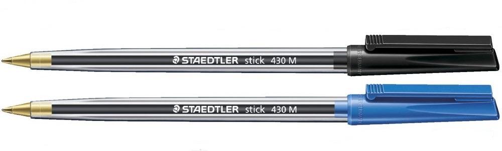 Stick Ball Pen BK & BL PK100