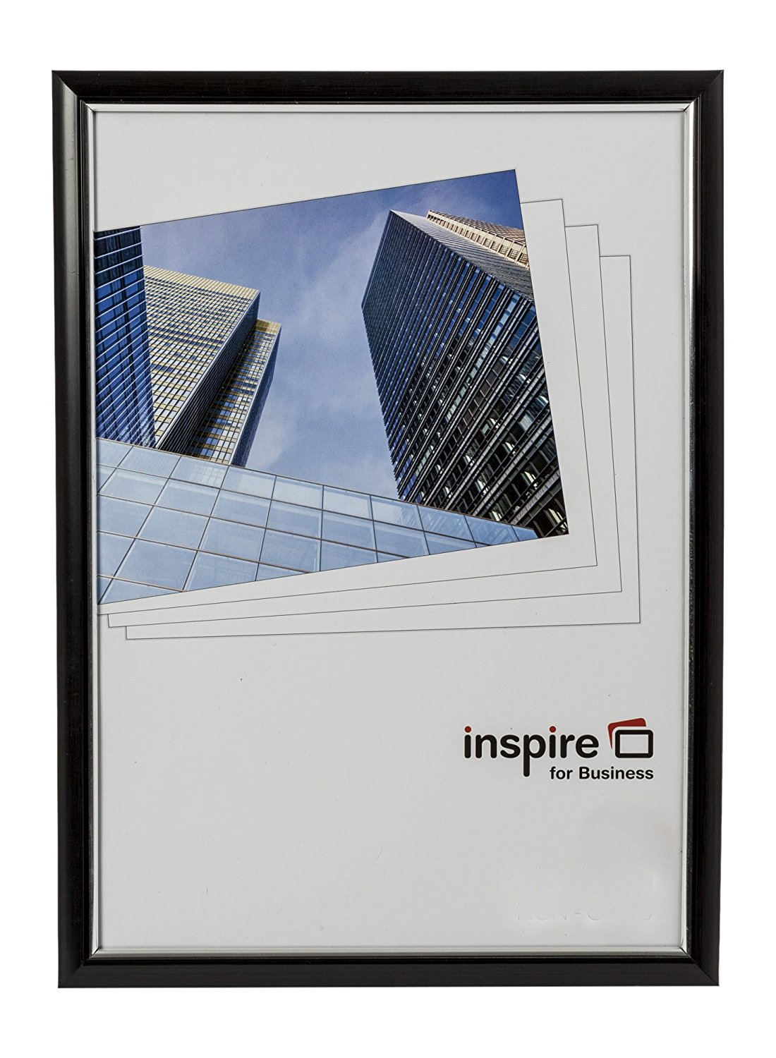 Certificate / Photo Frames Inspire For Business Certificate A3 Back Loader Black Frame