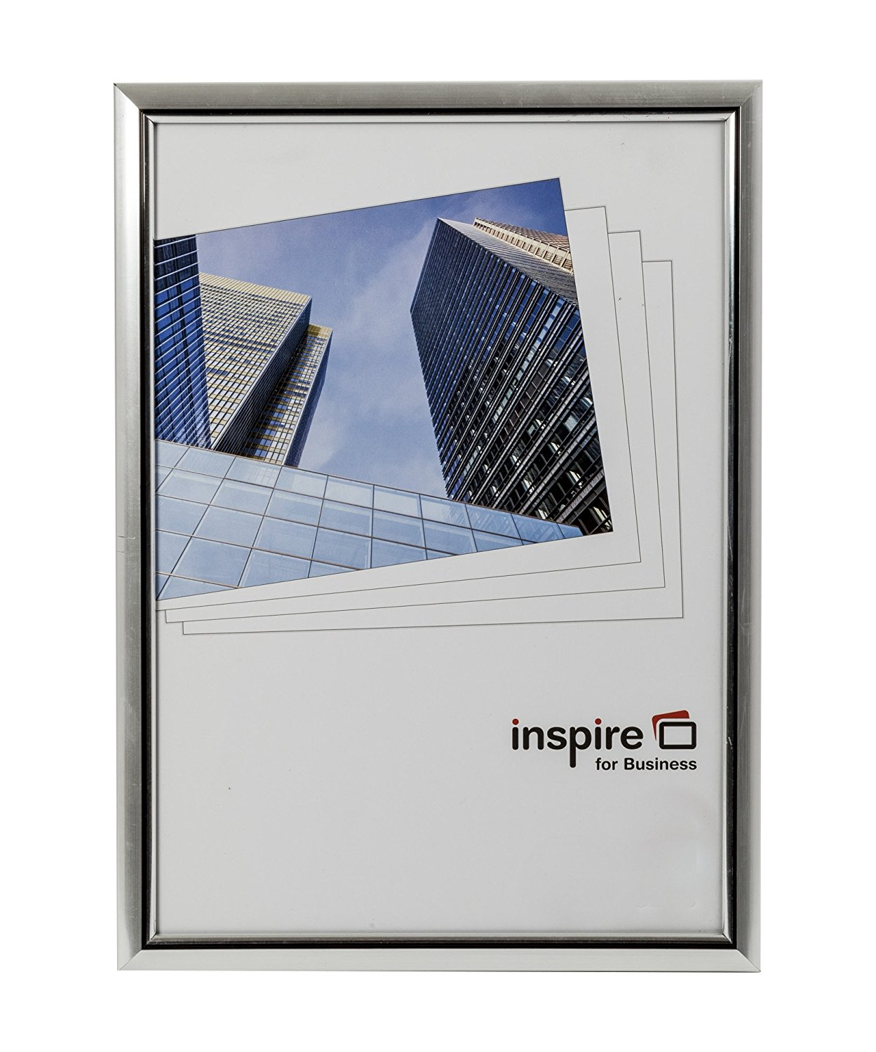 Certificate / Photo Frames Inspire For Business Certificate A4 Back Loader Silver Frame