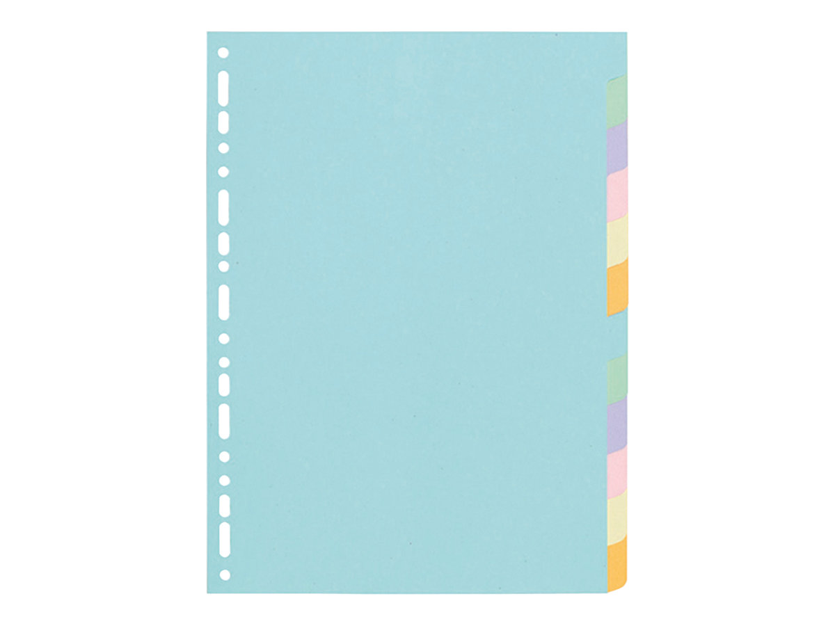 Exacompta 12Part Coloured Plain Dividers