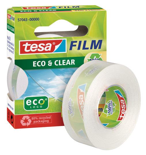 tesafilm eco & clear tape 19mm x 33m 57074 PK8
