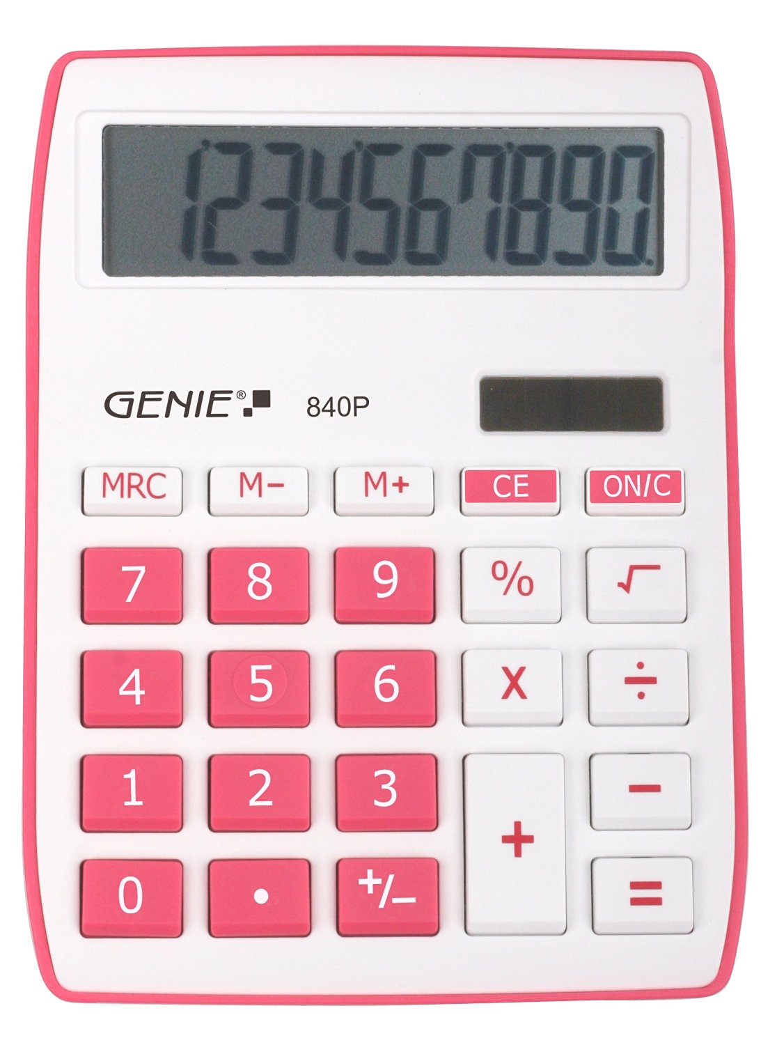 Desktop Calculator Genie 840P Pink Calculator