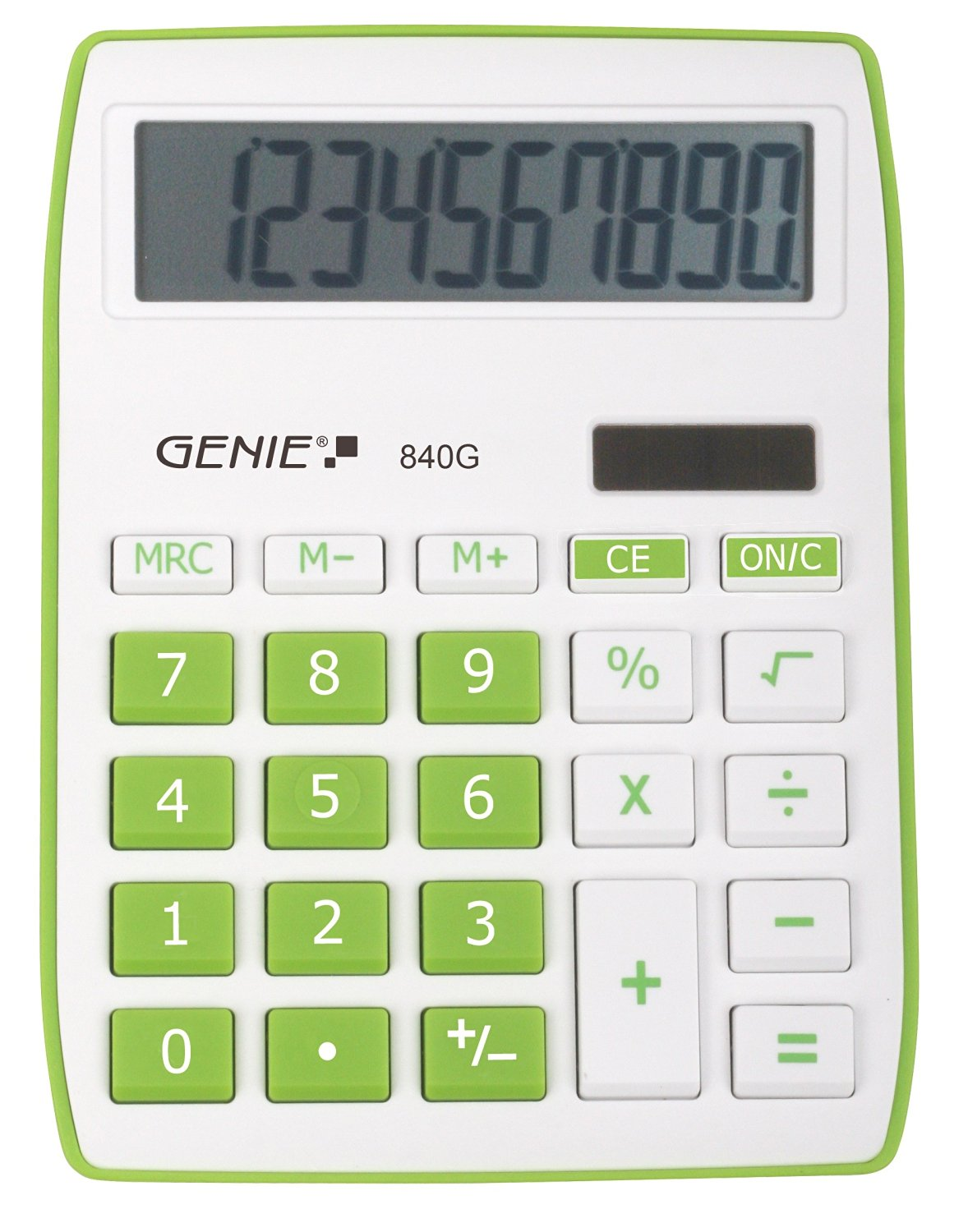 Desktop Calculator Genie 840G Green Calculator