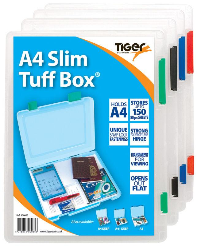 Storage Boxes Tiger Tuff Box Polypropylene A4 Slim