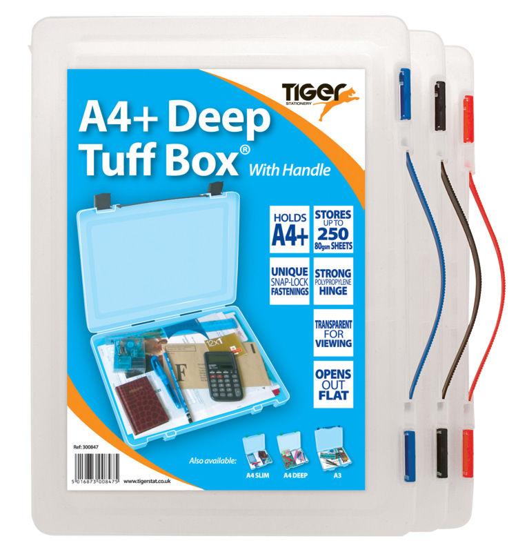 Storage Boxes Tiger Tuff Box Polypropylene A4 Plus Deep Clear