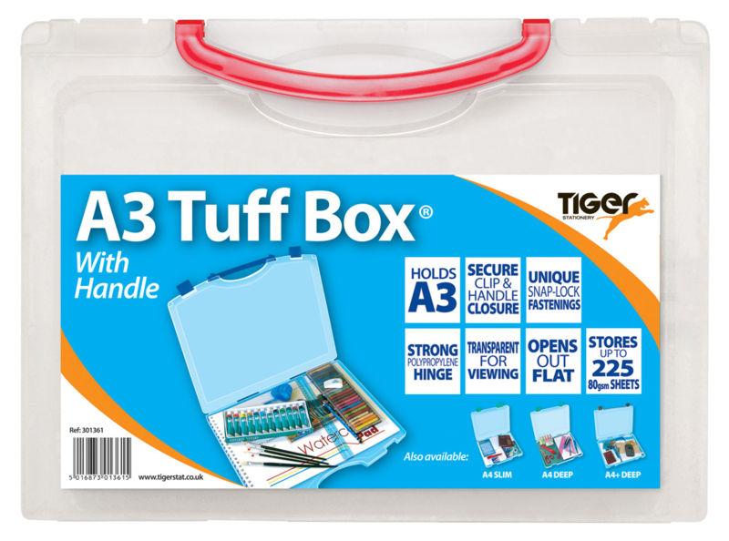 Storage Boxes Tiger Tuff Box Polypropylene A3 Clear