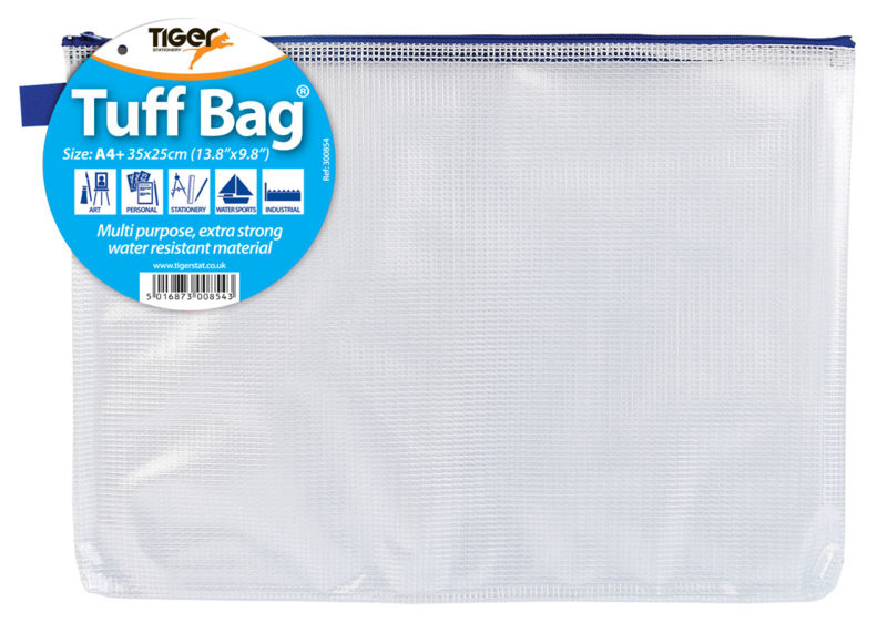 Zip Bags Tiger Tuff Bag A4 Plus