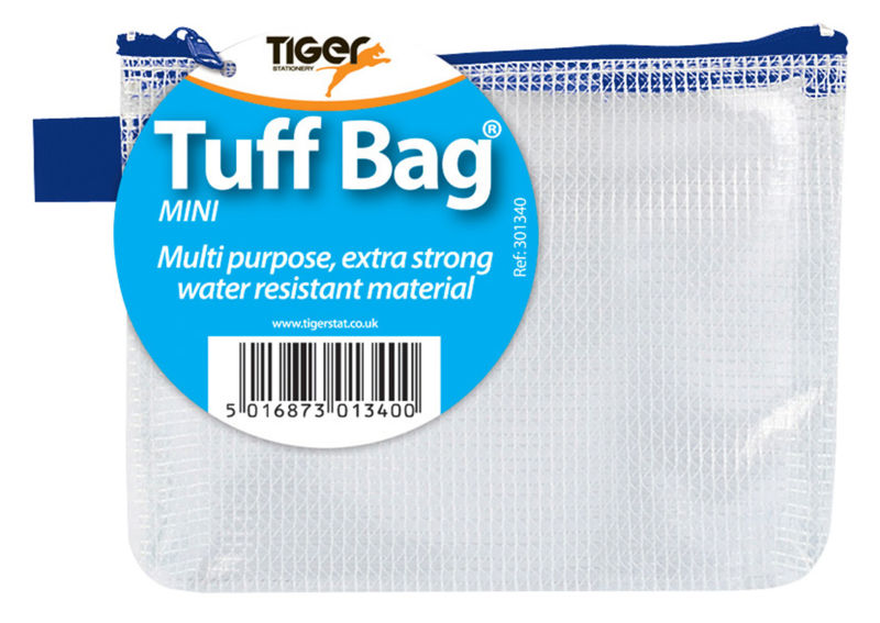 Tiger Tuff Bag Polypropylene Mini 500 Micron Clear with Assorted Colour Zips