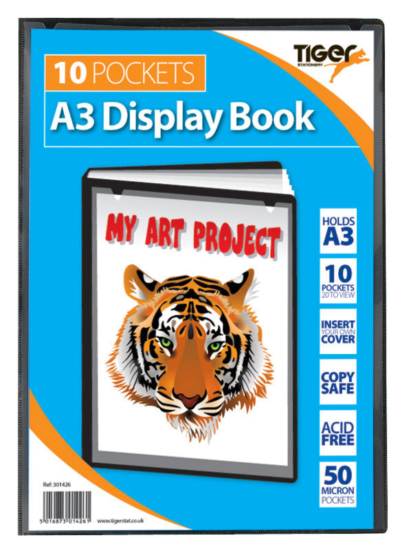 Tiger A3 Pres Display Book Black 10pkt