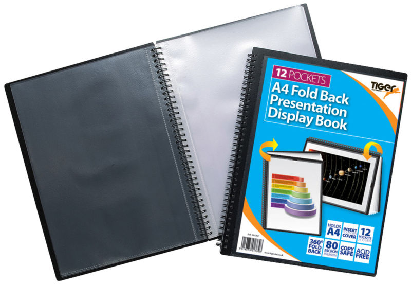 Tiger A4 Fold Back Display Book 12pkt