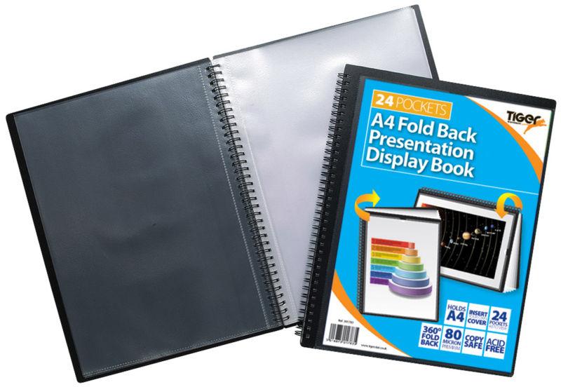Tiger A4 Fold Back Display Book 24pkt