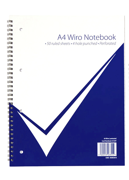 A4 Wiro Laminated Notebook PK5