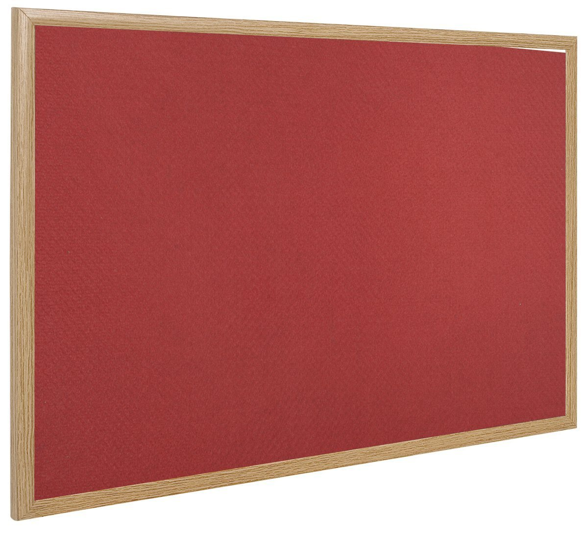 Magnetic Bi-Office Earth-It Exec Red Felt Ntcbrd Oak Frme 120x90cm