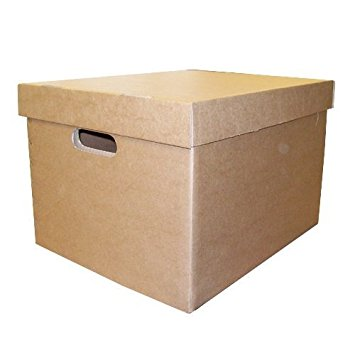 Archive Box & Lid Brown PK10